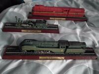 17 Atlas Editions collectable model trains - cost over £270