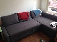Like New IKEA L-Shape Sofa Bed