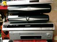 Sky + HD boxes x 2 Philips video recorder Philips dvd player all in good working order