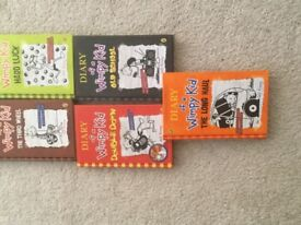 Diary of a wimpy kid books x 5