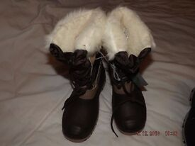 fur lined winter boots size 5