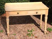 Pine telephone table and Pine Box