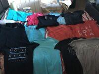 Men's hollister tshirt bundle -13 tshirts