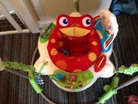 Fisher price jumperoo and bouncing zebra