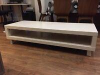 White TV stand/ open shelf