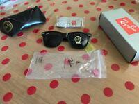 NEW BOXED UV400 Ray Ban Aviator Wayfarer Gloss Black G15 Sunglasses Shades Summer - Fits all Faces