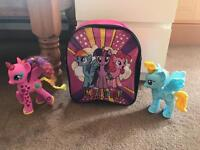 My little pony bag and ponies
