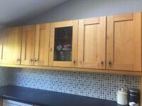 Kitchen with solid oak doors