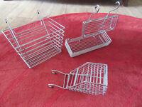Chrome Kitchen hanging storage baskets