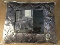 New Elegance Bedroom Couture Cristal luxury quilted bed runner. Silver grey with crystal beading.