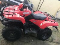 2014 Suzuki king quad 500 not yamaha grizzly can am honda trx foreman Kawasaki kvf Polaris quad 4x4