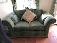 Two seater sofa & 2 armchairs