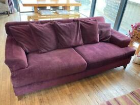 Large Aubergine Scatter Cushion Sofa from Next