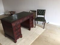 Reproduction Captain's Desk and Chair