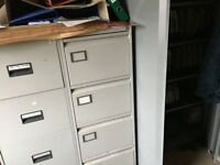 Filing Cabinets - 4 drawer metal - Grey or Brown/Cream
