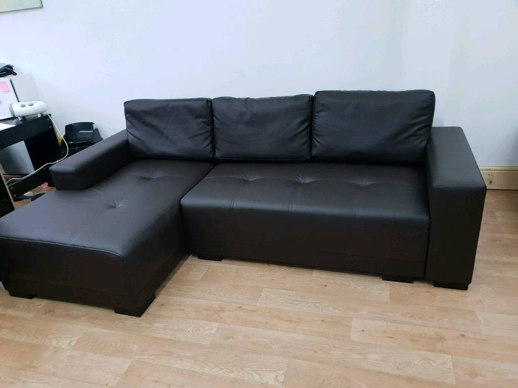 Leather Corner Sofa Bed Storage In Bolton Manchester Gumtree