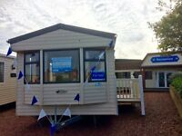 CHEAP STATIC CARAVAN FOR SALE ON THE NORTHUMBERLAND COASTLINE NR AMBLE LINKS, NEW BIGGIN BY THE SEA