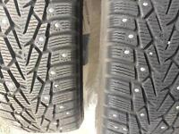 Four Goodyear Nordic Studded Winter Tires P195/55R15 $400(OBO)