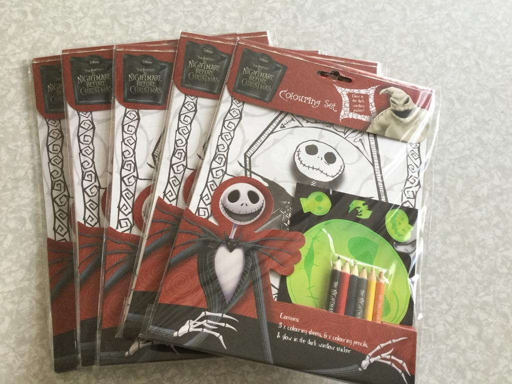 Nightmare before Christmas colouring packs ideal for xmas eve boxes ...