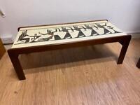 Mid century teak coffee table pharaoh