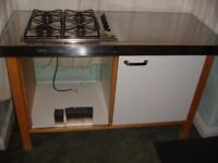 IKEA Varde Freestanding Base Kitchen Unit For Oven with Gas Hob