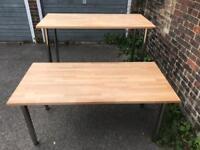 Height adjustable table/ high bar.