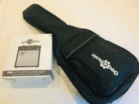 Brand New Single Cutaway Electro Acoustic Guitar + 15W Amp Pack, Black