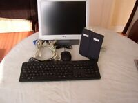 Tech Bundle, speakers ,keyboard, monitor, mouse . Excellent starter Kit