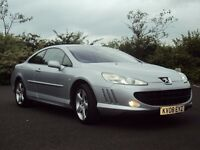 PEUGEOT 407 2.0 HDi SPORT COUPE, 2008 '08', S/H, MET SILVER, SAT NAV, ALLOYS, EX MPG, MUST SEE!!!
