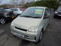 DAIHATSU CHARADE 989cc SL 5 DOOR HATCH 2003-53, GOLD, LOOK ONLY 81K FROM NEW