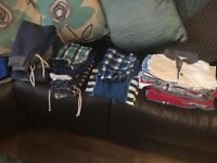 Boys clothes, coats, trainers and sandals