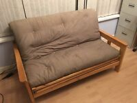 Double wooden framed futon/sofa bed