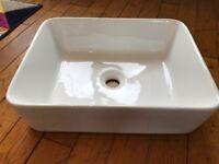 Stylish Ceramic Bathroom Shelf Countertop Sink