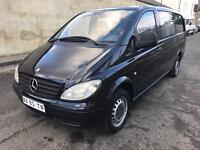 LHD LEFT HAND DRIVE MERCEDES VITO 109 CDI 2005 LWB LONG BLACK 6 SEATER CLEAN VAN