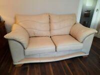 Sofas, 2 x two seater cream