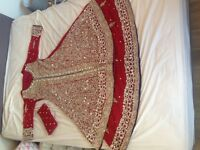 Bridal lengha - wedding dress- dress new with tags never been worn- red