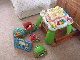 leapfrog learning table and other toys