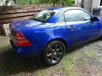 mercedes slk 230 k ,1 years mot ,1999 , well serviced and roof working