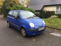 Daewoo matiz extra 1.00 litres for sale, MOT, low mileage, service history, drives really good.