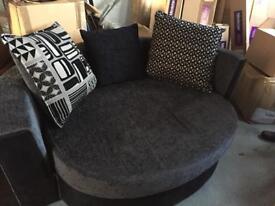 Large storage cuddler sofa