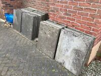 29 free paving slabs, collection required