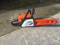 Stihl 171 chainsaw. 1 week old with receipt