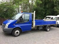 Ford transit T350 LWB dropside truck with tail lift 2011 11 plate NO VAT