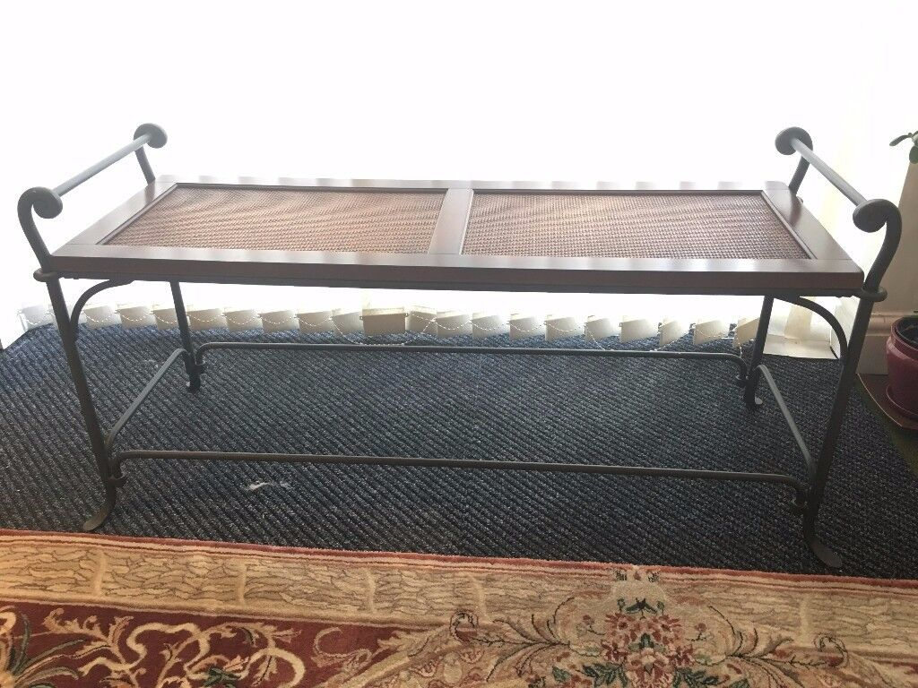 Occassional Table with Metal Frame and Wooden Top