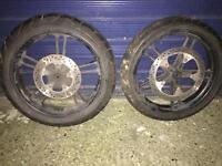 yamaha r125 wheels good tyres