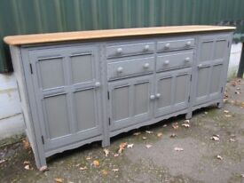 Enormous 7ft Ercol Sideboard Solid Elm Painted Farrow & Ball - Osmo Polyx Oil