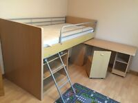 Single loft bed with disk