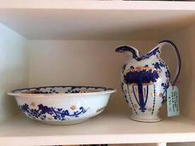 Victorian ware basin and jug