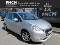 PEUGEOT 208 2013 1.4 HDI ACTIVE - £0 ROAD TAX - 1 OWNER - JUST SERVICED fiesta polo clio corsa 2013