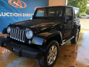 2016 Jeep Wrangler Sahara SAHARA/ HARDTOP/ HEATED LEATHER!